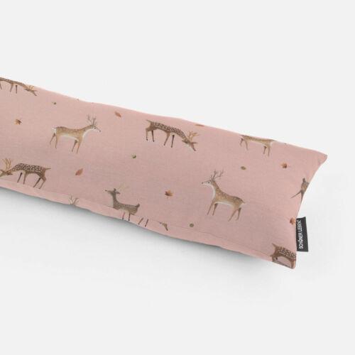 Zugluftstopper Perkal Rehe Hirsche rosa braun verschiedene Größen