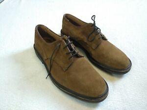 Men-039-s-en-daim-marron-Trickers-Chaussures-UK-11-Smart-Woodstock-cuir-Vintage-Tan-Derby