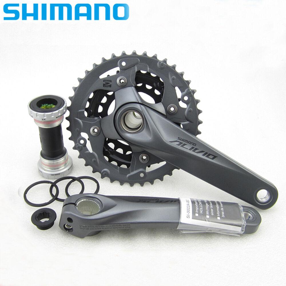 Shimano Alivio Crank Crankset 40-30-22T FC-M4050 9 Speed MTB Bike w or w o BB52