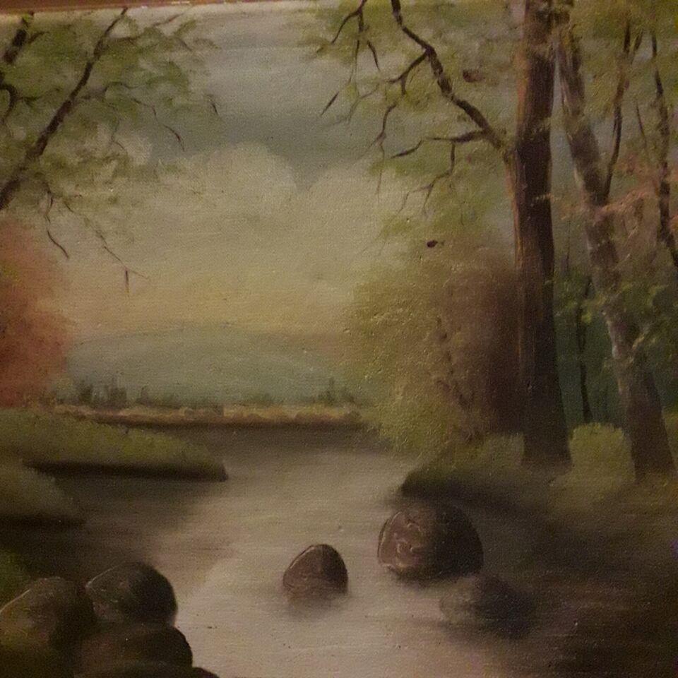 Olie maleri i flot ramme