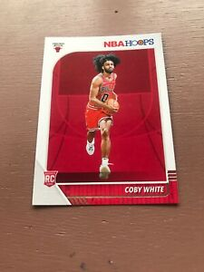 2019-20-Panini-Hoops-Basketball-Coby-White-Rookie-Card-Chicago-Bulls