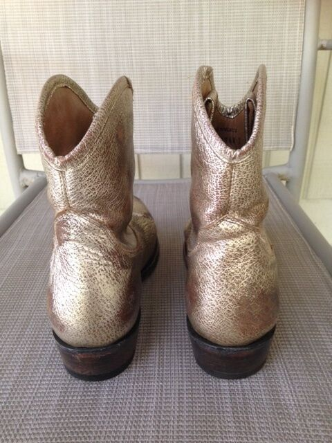 ASH Gold Distressed Leder JUDY Ankle Stiefel Stiefel Stiefel Sz 38 US 7 7.5 Retail 350 f3302e