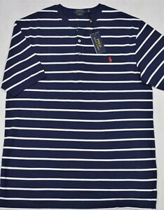 Lauren Striped Shirt Nwt Navy Details Mesh Polo Lt 2xlt Ralph Featherweight Henley About R54AjLq3