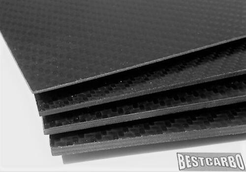 1,5 mm Carbon-Platte 210 x 110 mm CFK Kohlefaser