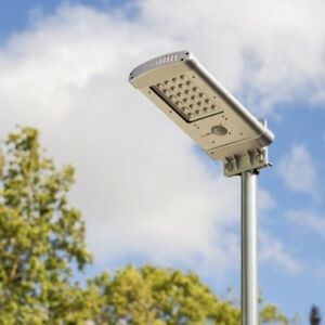 lampadaire solaire led jardin énergie lampe projecteur eclairage ...