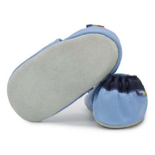 Carozoo voiture de police bleu clair 12-18 M semelle souple en cuir chaussures de bébé