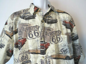 CLEARWATER-OUTFITTERS-HAWAIIAN-SHIRT-Classic-Muscle-Car-Chevy-Ford-XL-2XL-Cars