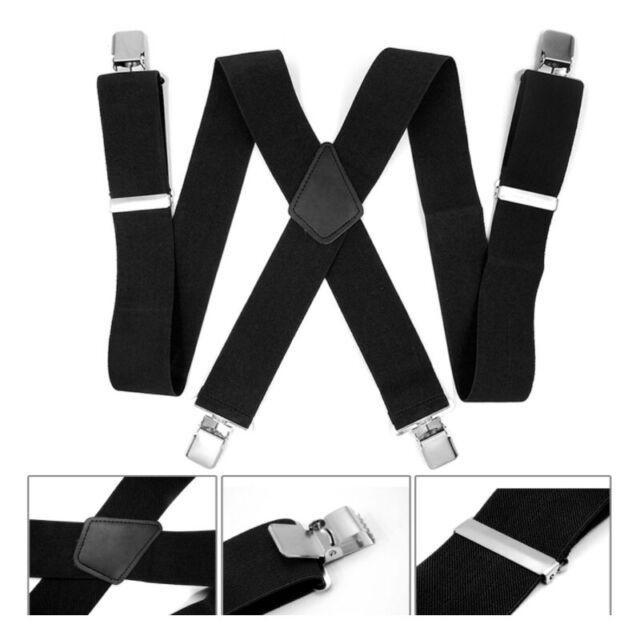 50mm Men//Women Elastic straps X-Back Trousers Adjustable Brace Suspenders  Gary