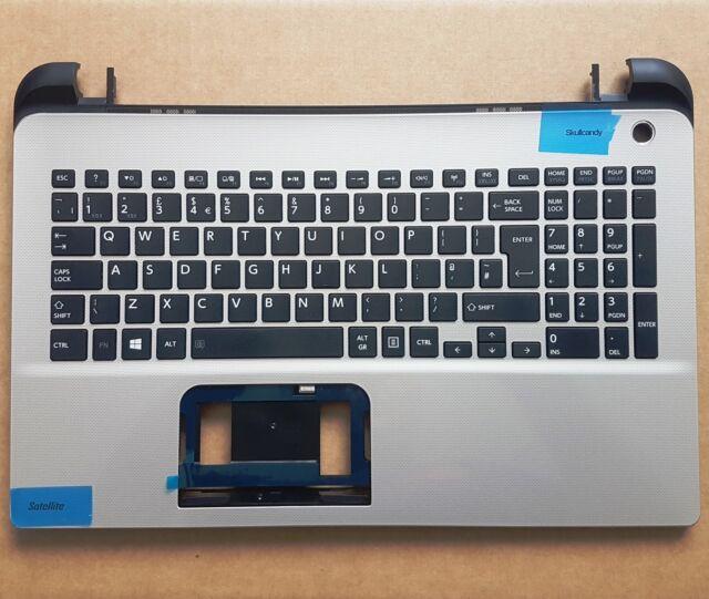 Toshiba L50-B  L50D-B L50T-B Palmrest UK Keyboard Silver