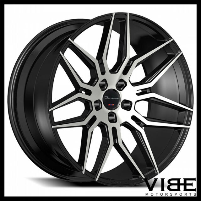"20"" GIOVANNA BOGOTA MACHINED BLACK CONCAVE WHEELS RIMS"