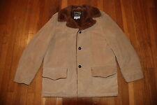 Vintage SEARS LEATHER SHOP rancher Marlboro Man Brown Suede Jacket Mens coat 42