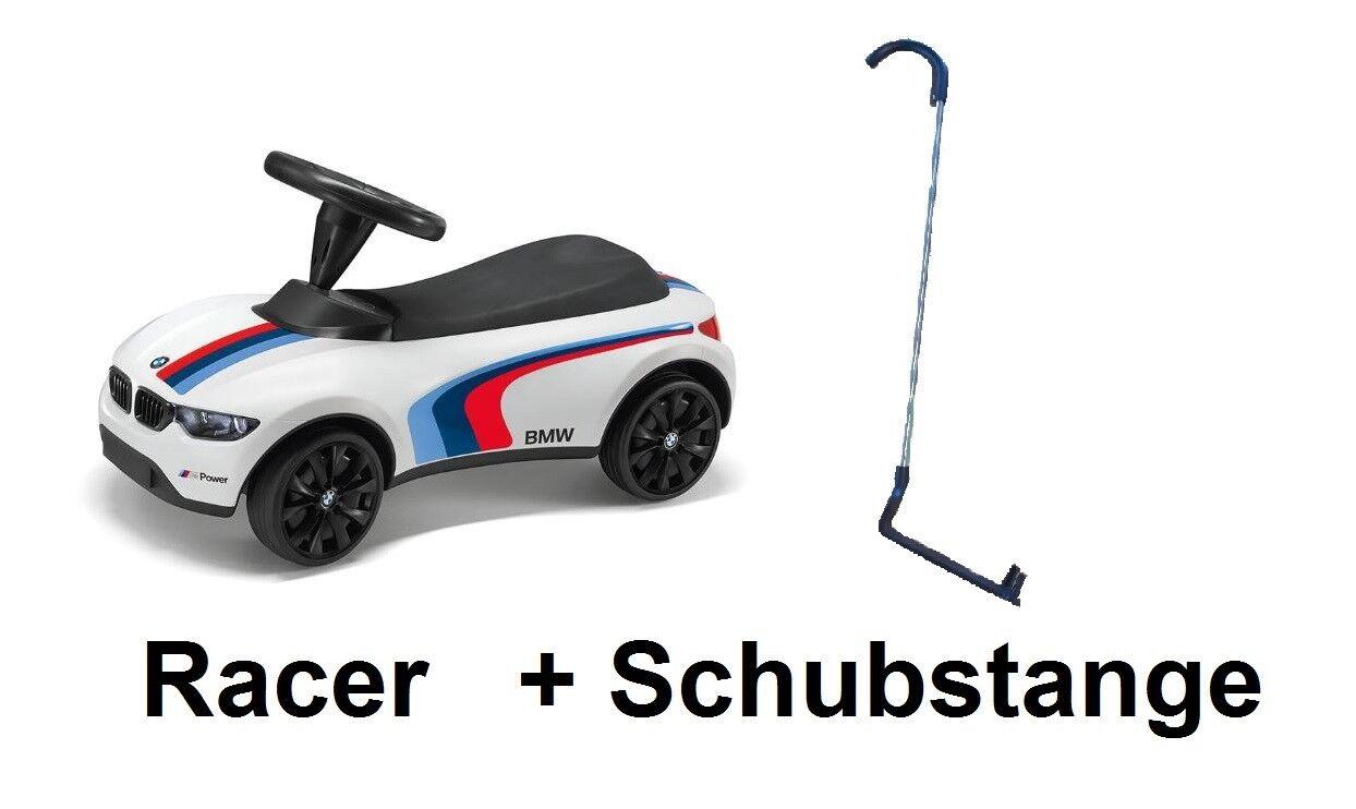 Original BMW Baby Racer III Motorsport Rutscherfahrzeug + Schubstange