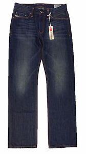 Diesel-Men-039-s-Viker-L-32-Trousers-Regular-Straight-Denim-Jeans-W31-L32