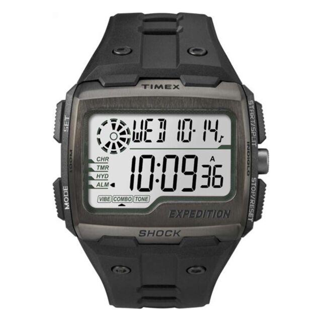 Timex TW4B02500 Mens Expedition Digital Shock Black Chrono Watch RRP £79.99