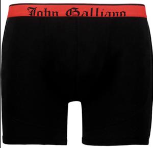 Mens John Galliano Boxer Trunks Pants Black Modal Medium UK34 IT48 New RRP£75