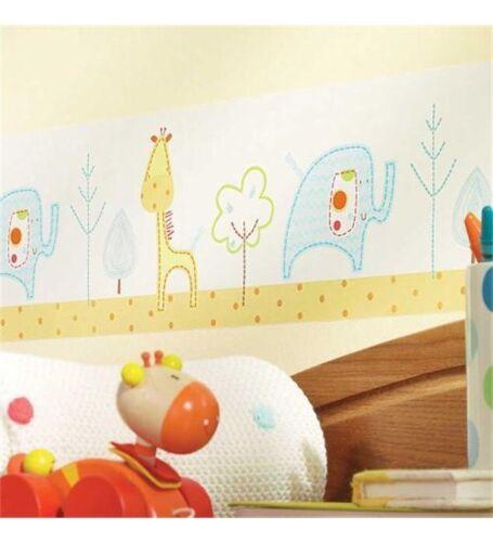 NEW SEALED Lollipop Lane Tiddly Wink Safari Children/'s //Nursery Wallpaper Border