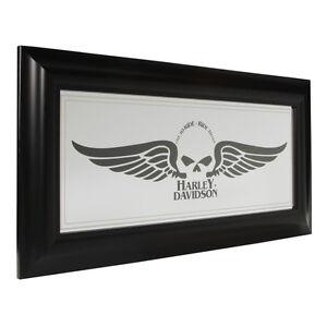 Image Is Loading Harley Davidson Winged Skull Mirror Polystyrene Frame Home