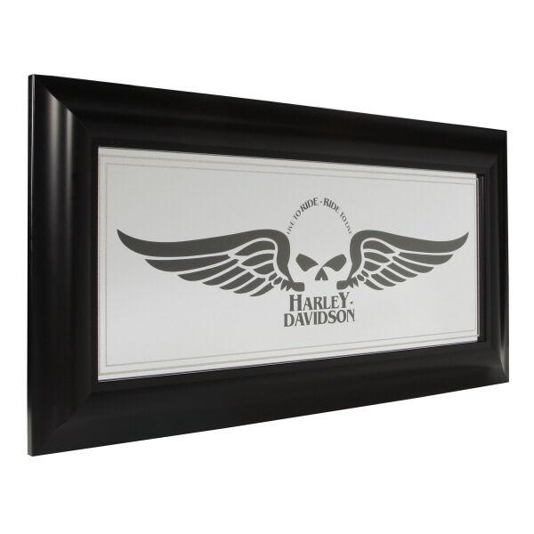 Rare Harley Davidson Wall Mirror Home Bar Decor Man Cave Sign Wall