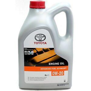 Original Toyota 5 Litre Engine Oil 0w 20 Sn Api Ilsac Gf 5