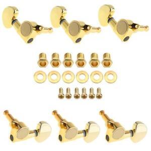 6pcs/set Guitar Tuning Pegs Tuners Keys String Machine Heads 3R+3L All Closed