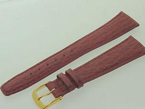 # L252 # Uhrenarmband Haifisch Leder Juwelier QualitÄt 20 Mm/14 Mm Violett Naht