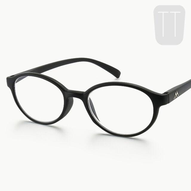 b4430235256c Montana Strength Plus 3.00 Black Round Frame Reading Glasses