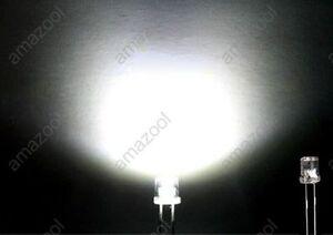 100pcs-X-white-Super-Bright-5mm-Flat-top-Wide-Angle-led-Light-lamp
