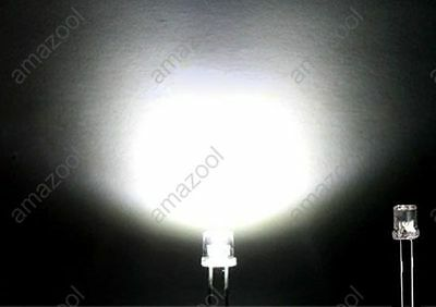 100pcs X white Super Bright 5mm Flat top Wide Angle led Light lamp