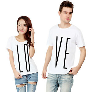 LOVE-T-Shirts-His-amp-Hers-MULTIPACK-Valentines-Printed-Tee-Top-Couples-Gift-New