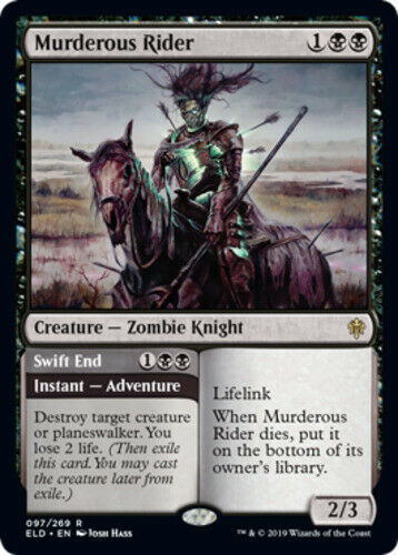 Throne of Eldraine Near Mint English -BF 1x Murderous Rider //// Swift End x1