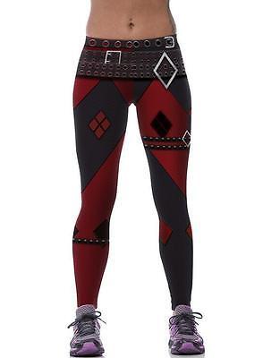 Women Cosplay Legging Squad Harley Quinn Printed High Waist sport legging