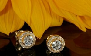 2-00ct-Round-Cut-Beautiful-Solitaire-Diamond-Stud-Earrings-Solid-14k-Yellow-Gold