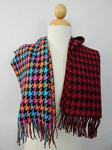 FRINGED-LUXURIOUSLY-SOFT-HOUNDSTOOTH-PATTERN-SCARF-CHOICE-OF-RED-BLACK-OR-NEON