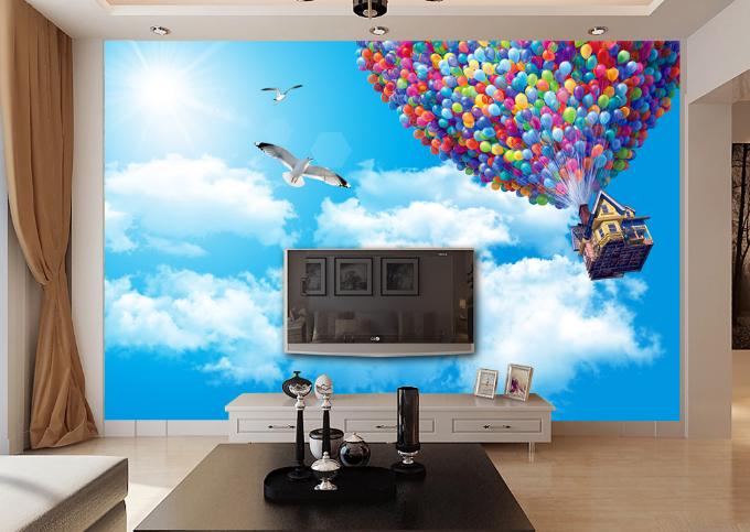 3D Sky Balloons Hut 97 Wall Paper Murals Wall Print Wall Wallpaper Mural AU Kyra