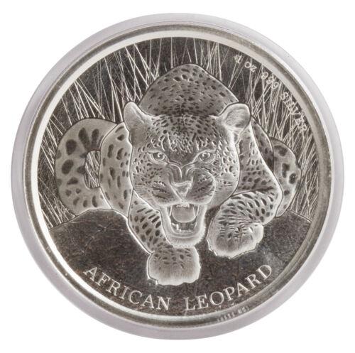 Proof-Like 2017 $1 1oz Silver Ghana African Leopard .999 BU
