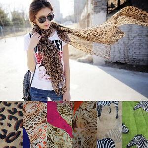 Women-039-s-Long-Chiffon-Leopard-Zebra-Safari-Animal-Print-Scarf-Wraps-Shawl-Scarves