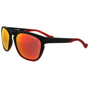 Arnette-Sonnenbrille-4203-Groove-22566Q-Fuzzy-Schwarz-amp-Cherry-Rot-Spiegel