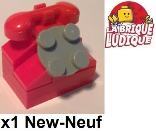 Lego 1x Old Phone Old Phone Handset Rotary Dial Choice 6190 New
