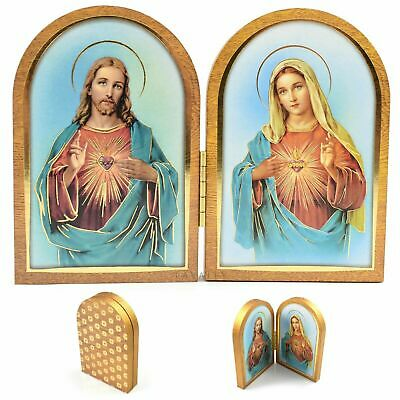 Wooden Plaque with Gold Leaf Confirmation Gift of the Holy Spirit Triptych