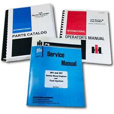 International 175b Crawler Loader Tractor Service Parts Operators Manual Set 175