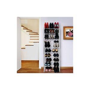 Estantería para Zapatos 30 Pares 135x50x25cm - Blanca (2015300083897)