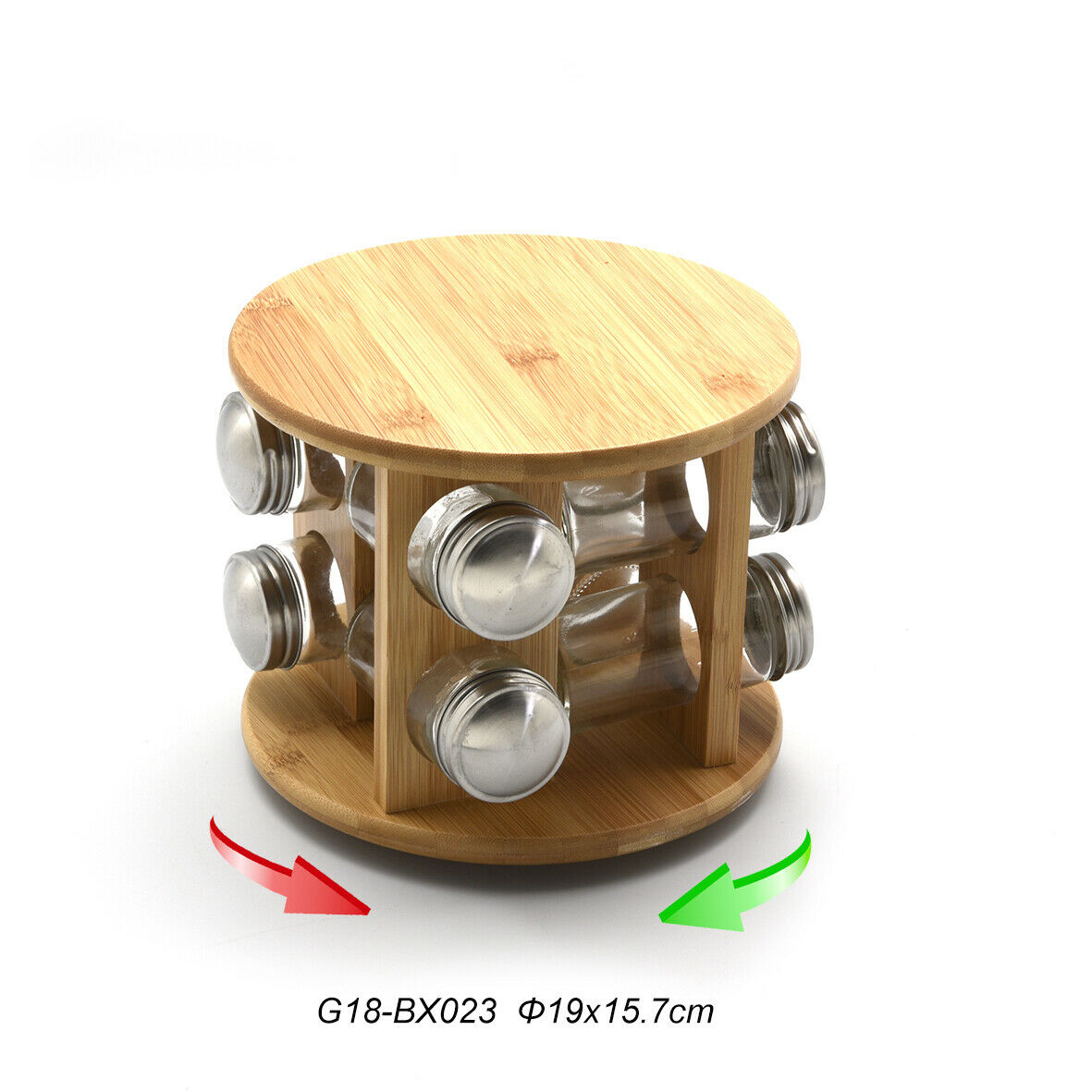 Kesper Gewürzregal mit 6 Gläser leer Gewürzständer Gewürzgläser