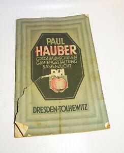 Catalogue-Paul-Hauber-Pepiniere-Samenzucht-Dresden-Tolkewitz-1927-Automne-Jardin