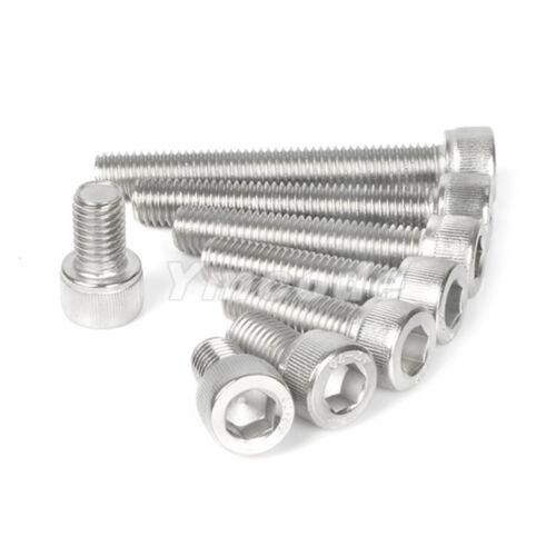 M2-2mm A2 Stainless Steel Metric Allen Hex Socket Cap Head Screws Bolt DIN912