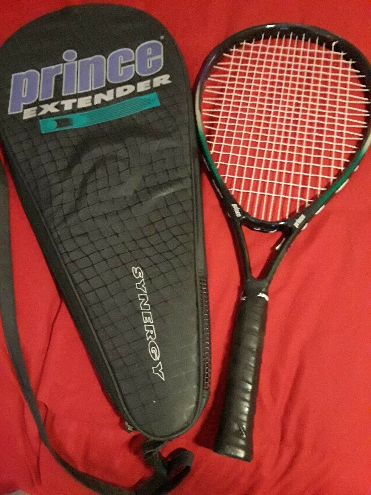 Prince CTS Synergy Extender 4 1 2 Tennis Racquet w case NEW OVERGRIP