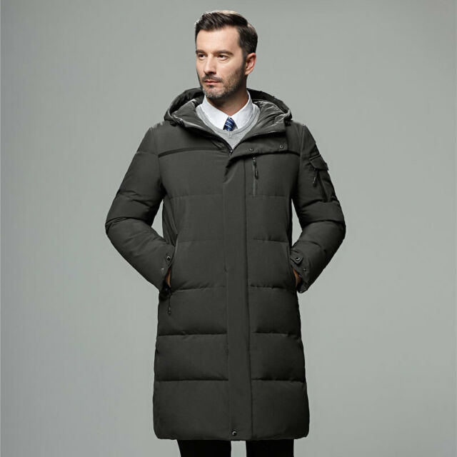 9a7b748b8 Details about Men Winter Warm Duck Down Jacket Ski Thicken Snow Thick  Hooded Puffer Coat Parka