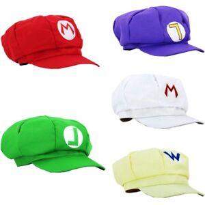 79bda9a028d9 Details about Super Mario Bros Hat Luigi Cap Anime Cosplay Costume baseball  Adult kids Gift