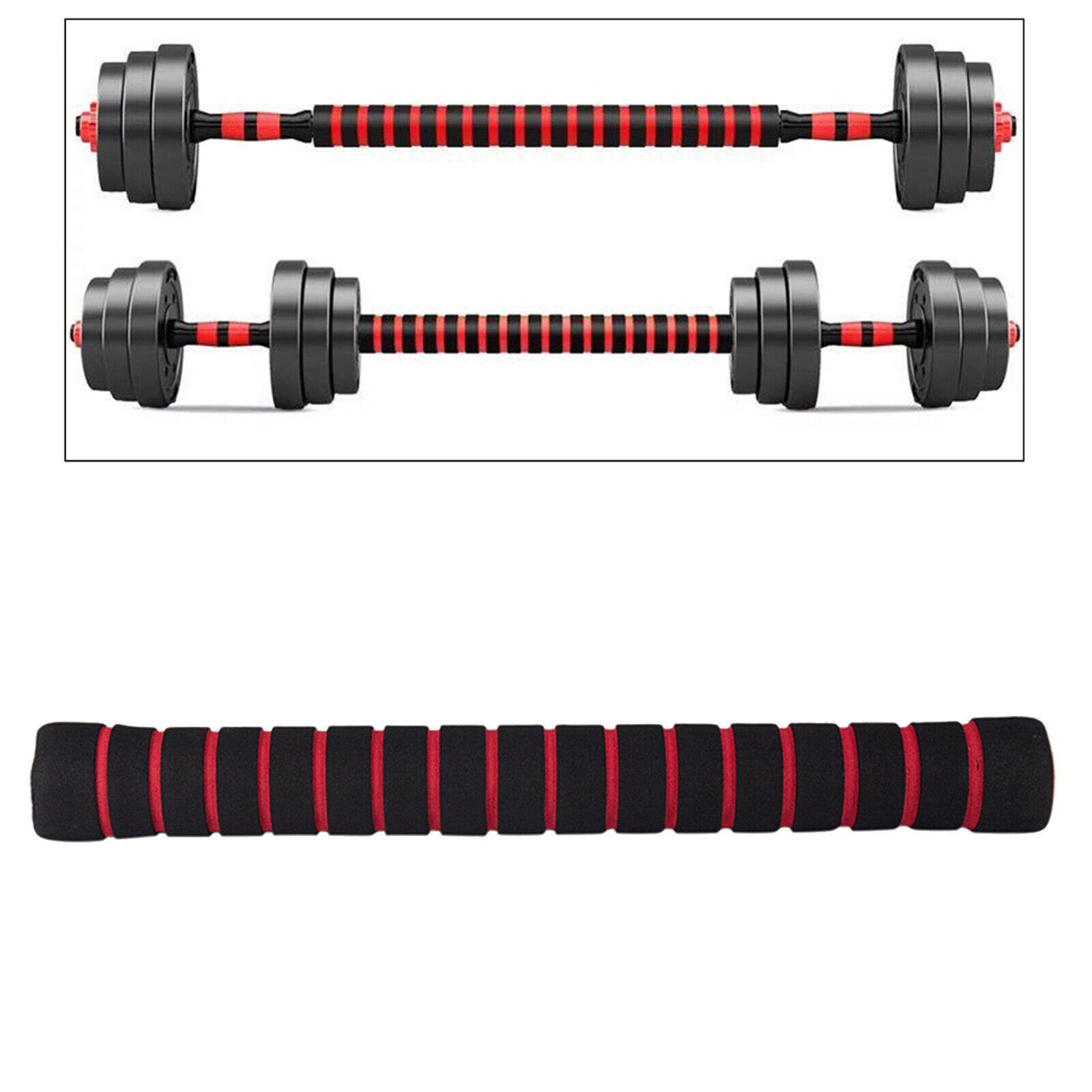 Solid Dumbbell Extension Bar Barbells Extender Solid And High Strength