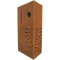 Elite Letterboxes Centric Rust Pillar Letterbox