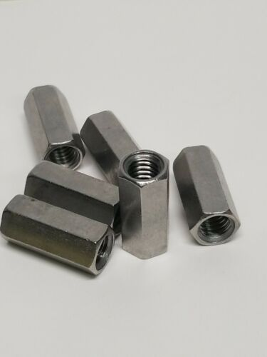 """5 3//8-16 ×1-1//8/"""" pcs Threaded Rod. Stainless Steel 18-8 Coupling Nuts,"""